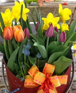 tulip basket easter
