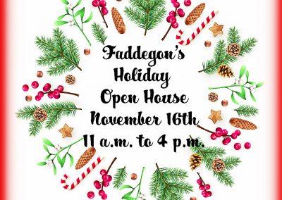 November 16th, 2019 – Holiday Open House