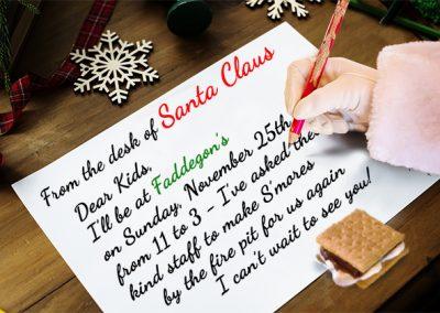 November 25th, 2018 – A Visit With Santa & S'mores!