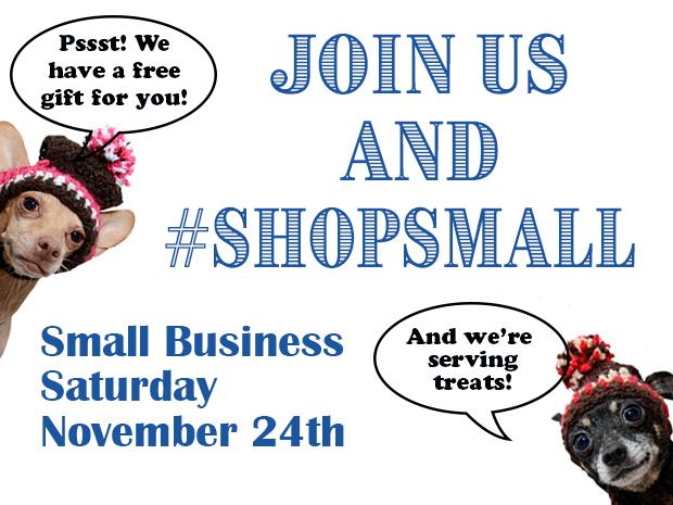 November 24th, 2018  – Small Business Saturday Free Gift
